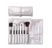 Domire 7pcs Professional Cosmetic Makeup Make up Brush Brushes Set Kit with Silver Bag Case