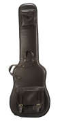Levy's Leathers LM19-DBR Leather Deluxe Bass Guitar Bag, Dark Brown