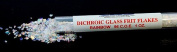 30ml CBS Clear Dichroic Glass Frit Flakes Rainbow COE96 Fusible DF559