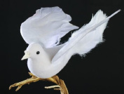 Package of 12 Artificial White Flying Feathered Artificial Doves - Birds Have Attached Clips for Wedding, Party and Special Event Decorating