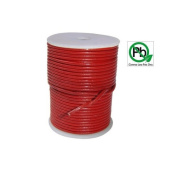 Round Leather Cord Red 0.5mm 5meters