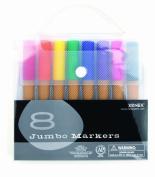 Xonex Snap Case Art Supplies - Jumbo Markers, 8PC, 1 count
