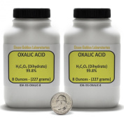 Oxalic Acid [C2H2O4] 99.8% ACS Grade Powder 0.5kg in Two Space-Saver Bottles USA