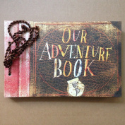 Our Adventure Book,Movie Pixar Up,80 Pages Hand Made Loose Leaf Kraft Paper DIY Photo Album,Anniversary Scrapbook,Wedding Photo Album
