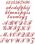 ABC Machine Embroidery Designs Set - Script Embroidery Designs 26 Upper-Case Letters, 10 Numerals and 26 Lower-Case Letters 4x4 Hoop - CD