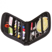 Sunreek™Best Sewing Kit For Girls & Boys, Adults, Kids And Beginners - Professional Premium Starter Kit For Home, Travel, Camping & Emergency - Basic Black Case.