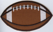 Large Football Iron on Embroidered Patch