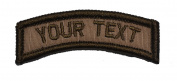 Customizable Text Tab Patch w/Hook and loop - Military/Morale - Coyote Brown