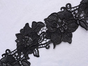 10cm Black Embroidery Lace Trim for Dress Shawls, Scarves, Hats..sales By the Yard