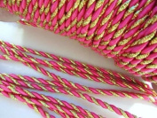 10 yards Twist Twine Cord Trim 5mm/Braid/Trimming/Craft/Christmas T60-Gold-Fuchsia US SELLER SHIP FAST