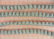 Grey Mini Pom Pom Fringe Embroidery Lace Trim Braid Woven Ball Pompom Sewing Tape Ribbon