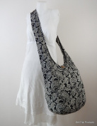 BTP Hippie Hobo Paisley Sling Crossbody Bag Purse Messenger Cotton Handmade Gift XL (Height