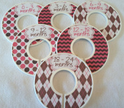Pink & Brown Baby Closet Dividers