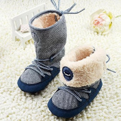 Kidstree(TM) Toddler Boots, Soft baby shoes, 0-18M Winter Baby Boy Snow Boots Soft Sole Lace Up baby Soft Toddler Boots Shoes