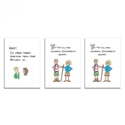 Dad's Castle Pregnancy Announcement Cards - Father and Grandparents 3-card Bundle B