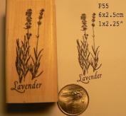 Lavender rubber stamp WM P55