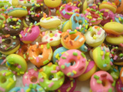 Dolls House Miniature Food Lot 20 Loose sprinkle donut Bakery Supply 10672