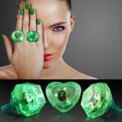 Green Huge Gem Light Up LED Rings