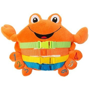 """BUCKLE TOY """"Barney"""" Crab - Toddler Early Learning Basic Life Skills Children's Plush Travel Activity"""