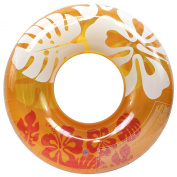 Enimay 90cm Clear Colour Summer Swimming Tube Flower Water Ring Toy Orange