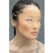 HuaYang Fashion Boho Tassels Stretch Elastic Headband Link Chain Cuff Headpiece