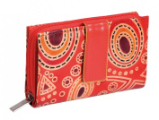 Shanti Women's Leather Purse in hand-painted leather 14 x 9 cm