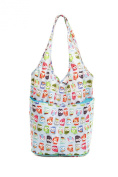 Foldaway Shopping Bag, Push Button Closure, Choice of Fun Designs. The Very Lovely Bag Co.