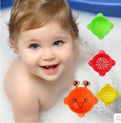 ZeroShop(TM) Bath Time Rainbow Stacking Cups Fun and Colourful Bathtub Learning Toy