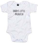 Producer Baby Body Suit Daddys little Newborn Babygrow White with Black Print 12-18 months