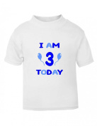 The Bees Tees Kids Birthday T-shirt I AM 3 TODAY