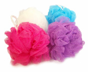 Exfoliating Shower Puff - Multicoloured - Pack of 8