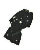 Zac's Alter Ego® Velvet Knot with Diamante Stones on Black Clamp
