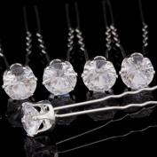 20x Clear Crystal Diamante Wedding Bridal Prom Hair Pins Hair Accessories