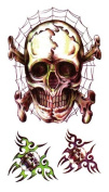 Body Art Temporary Removable Tattoo Stickers Halloween Horror RC2320 Sticker Tattoo - FashionLife