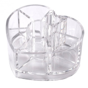 Lovely Heart Shape Clear Acrylic Makeup Case Cosmetic Organiser Holder Drawers Jewellery Storage Box