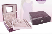 Woman Lady Girls Actress Portable Travel Jewellery Box Earring/Ring/Necklace/Watch Etc Cosmetic Storage Container Box Case As Chirstmas/Birthday present- Purple Colour