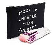 Sanfran - Pizza Is Cheaper Than Therapy Make-Up Bag