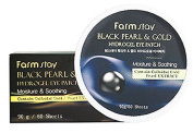 2 Pack Black Pearl & Gold Hydrogel Eye Patch 60 Sheets