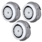 3x E-Cron® Brush Heads. Replacement for Clarisonic Normal Facial Cleansing. Compatible with Mia 1, 2, 3(Aria), SMART Profile, Alpha Fit, Plus, Sonic Radiance.