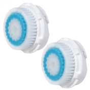 2x E-Cron® Brush Heads. Replacement for Clarisonic Deep Pore Facial Cleansing. Compatible with Mia 1, 2, 3(Aria), SMART Profile, Alpha Fit, Plus, Sonic Radiance.