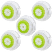 5x E-Cron® Brush Heads. Replacement for Clarisonic Acne Facial Cleansing. Compatible with Mia 1, 2, 3(Aria), SMART Profile, Alpha Fit, Plus, Sonic Radiance.