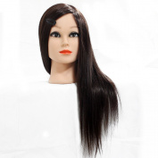 Neverland Beauty 60% Professional Real Hair 60cm Hairdressing Equipment Training Heads With Free Clamp For College and Professional Use