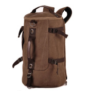 Lifebe BG Portable Men Vintage Canvas Backpack Rucksack Laptop Shoulder Outdoor Duffle Bag
