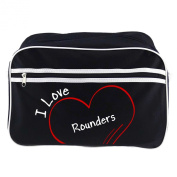 Modern Retro Bag with I Love Rounders Black