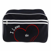 Modern Retro Bag with I Love Nic Black