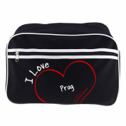 Modern Retro Bag with I Love Prague Black