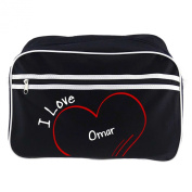 Modern Retro Bag with I Love Omar Black