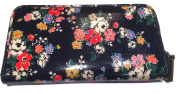 Cath Kidston New Oilcloth Clifton Rose Zip Wallet In Midnight Blue £26.99
