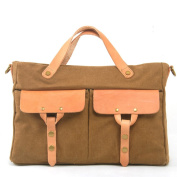 Nasis Vintage Large Canvas Leather Shoulder Laptop Messenger Travel Outdoor Bag AL4139