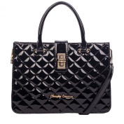 Claudia Canova Twin Strap Turn Lock Quilted Bag 81820 - Black